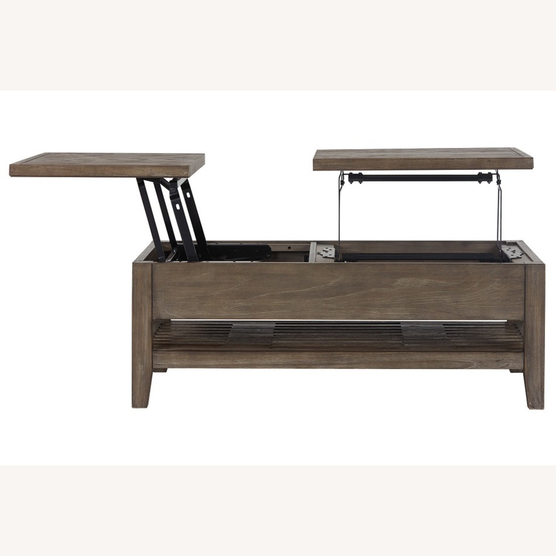 Dark Tone Rect Lift Coffee Table - image-3
