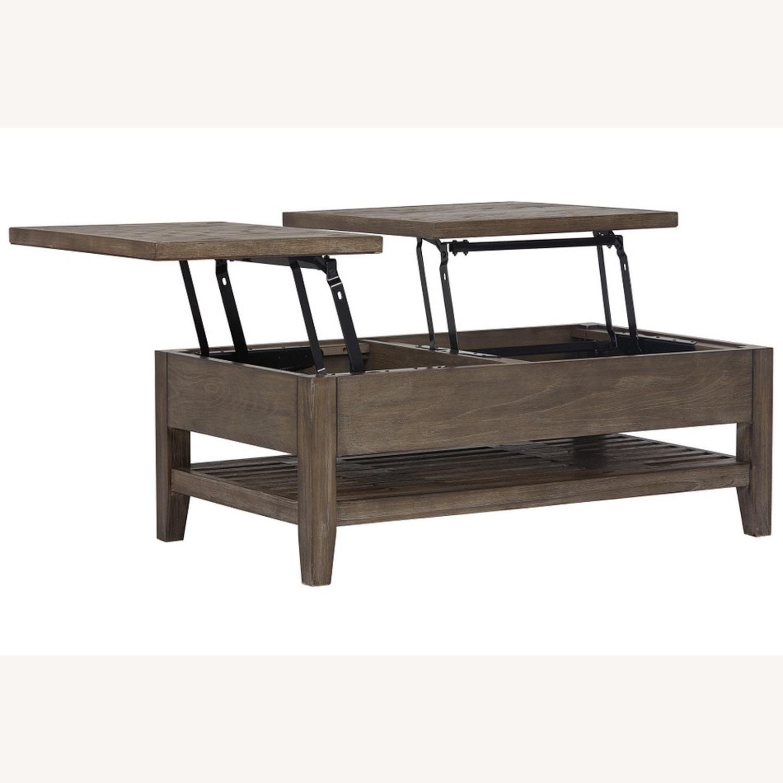 Dark Tone Rect Lift Coffee Table - image-4