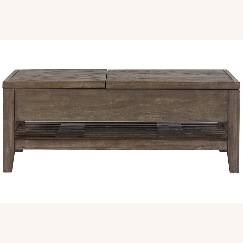Dark Tone Rect Lift Coffee Table - image-2