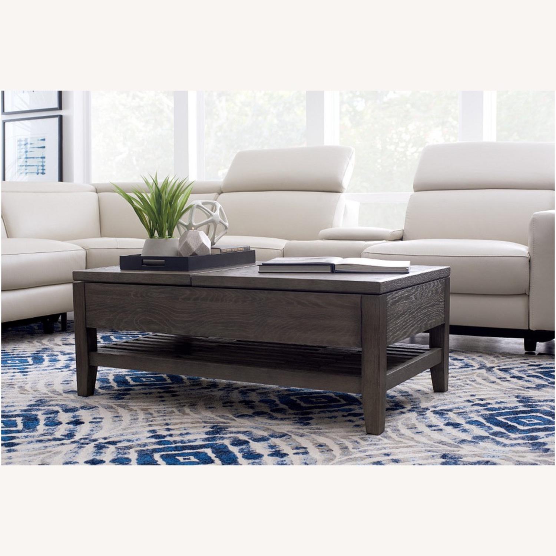 Dark Tone Rect Lift Coffee Table - image-1