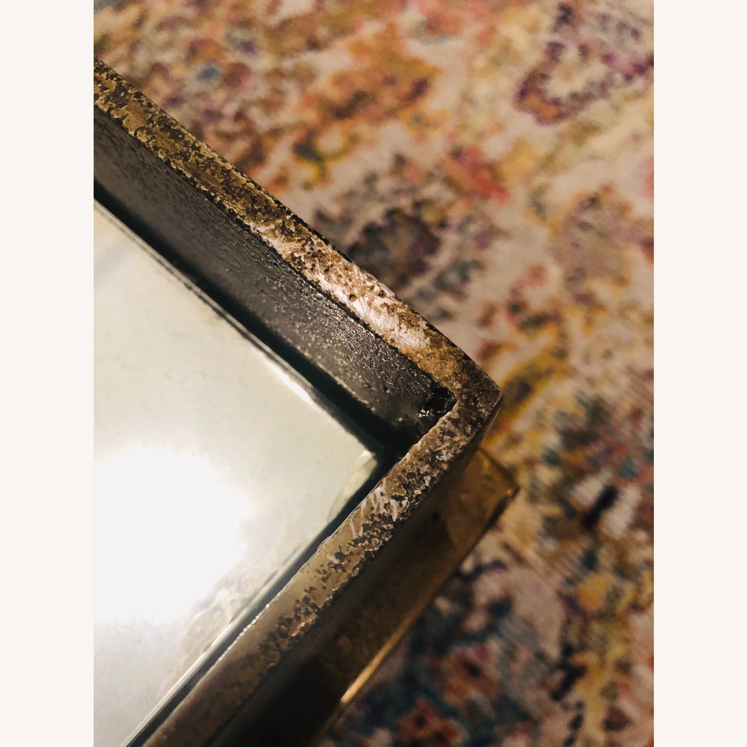 Crate & Barrel Antique Brass Bunching Table - image-6