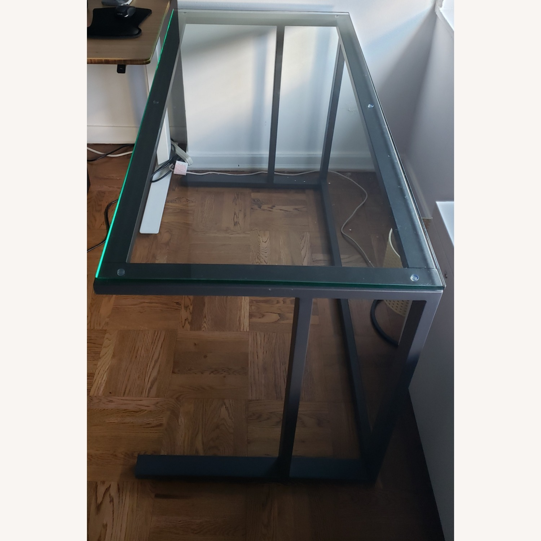 Crate & Barrel Pilsen Graphite Desk - image-2