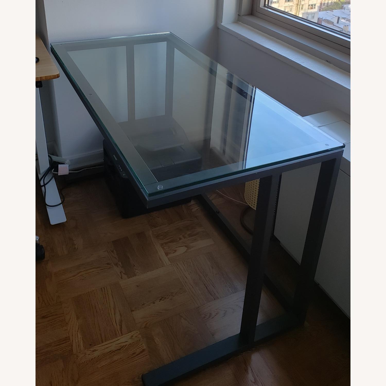 Crate & Barrel Pilsen Graphite Desk - image-1