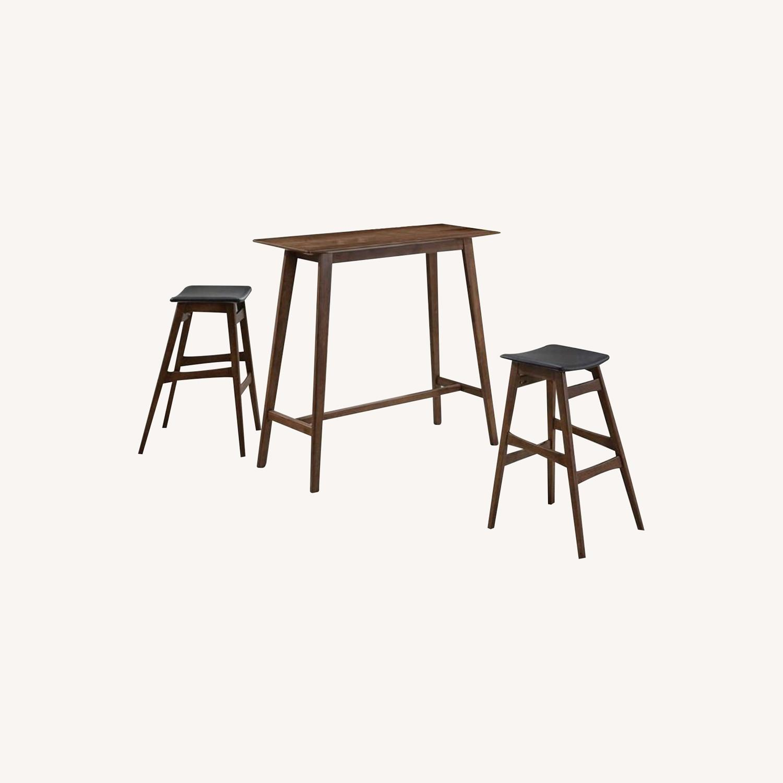 3-Piece Mid-Century Style Bar Table/Stool Set - image-5