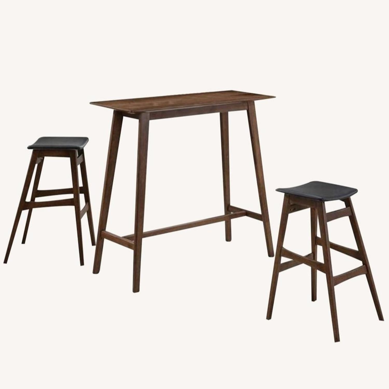 3-Piece Mid-Century Style Bar Table/Stool Set - image-0