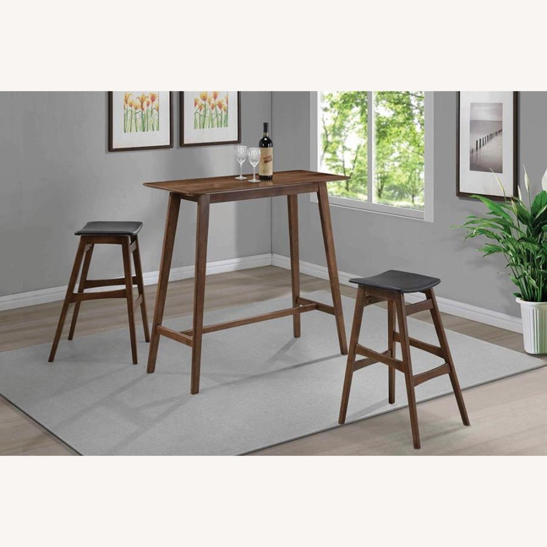 3-Piece Mid-Century Style Bar Table/Stool Set - image-1