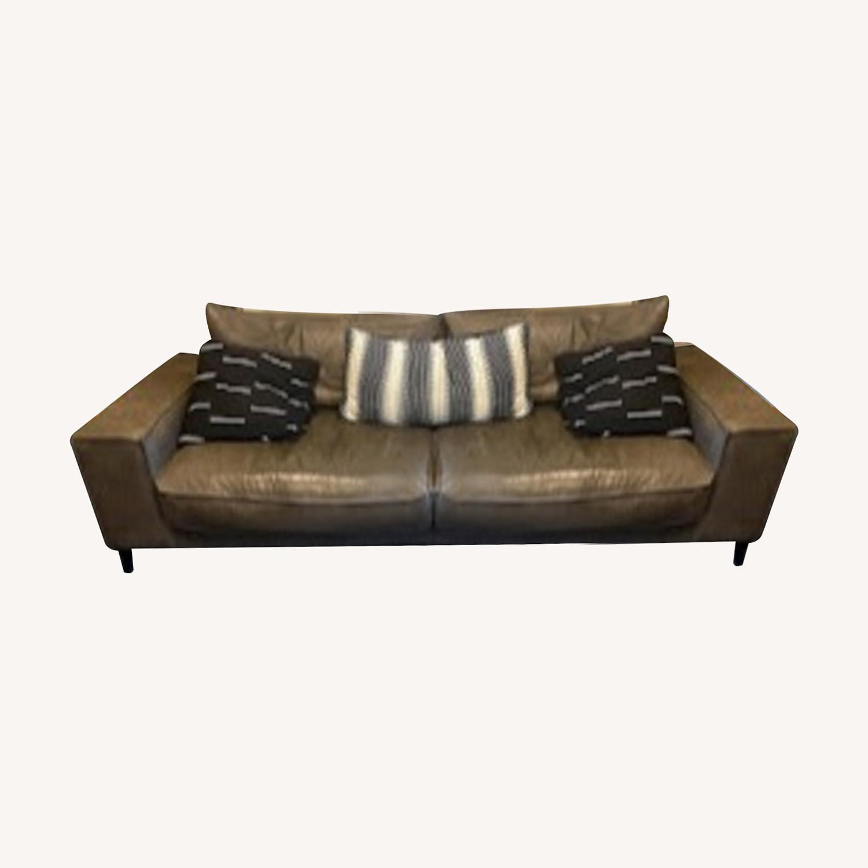 Article Charcoal Leather Sofa (Toro) - image-0