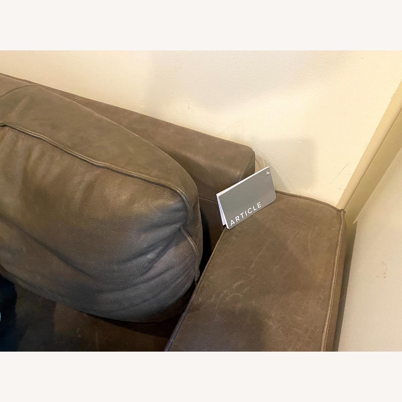 Article Charcoal Leather Sofa (Toro) - image-4