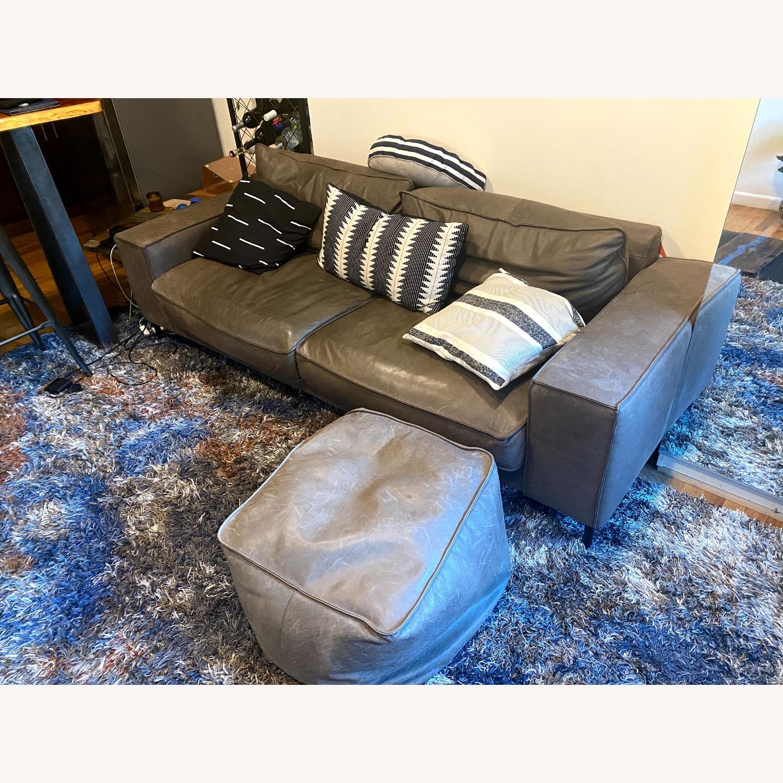 Article Charcoal Leather Sofa (Toro) - image-2