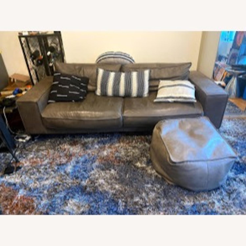 Article Charcoal Leather Sofa (Toro) - image-1