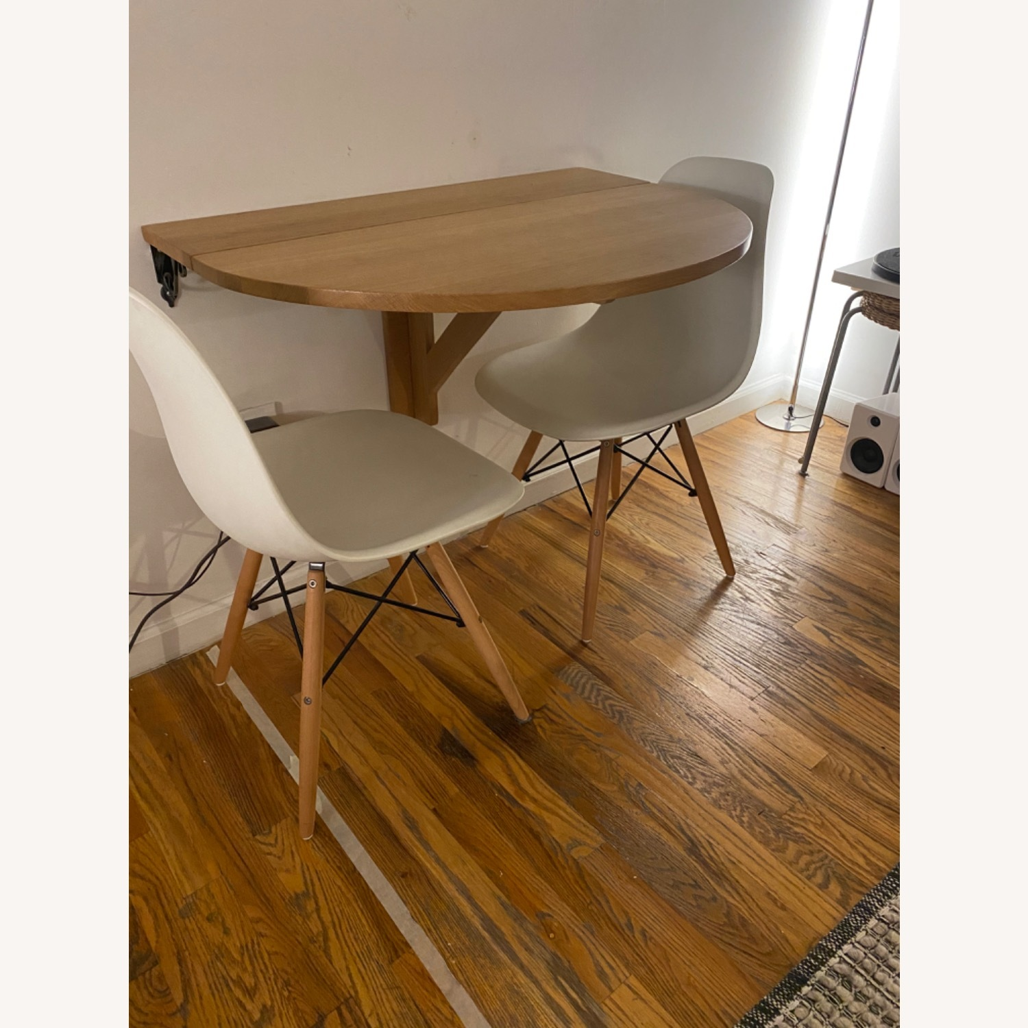Solid Oak Wall Mounted Drop Leaf Table - image-11