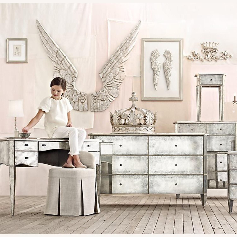 Restoration Hardware Ava Mirrored Vanity/Desk - image-8