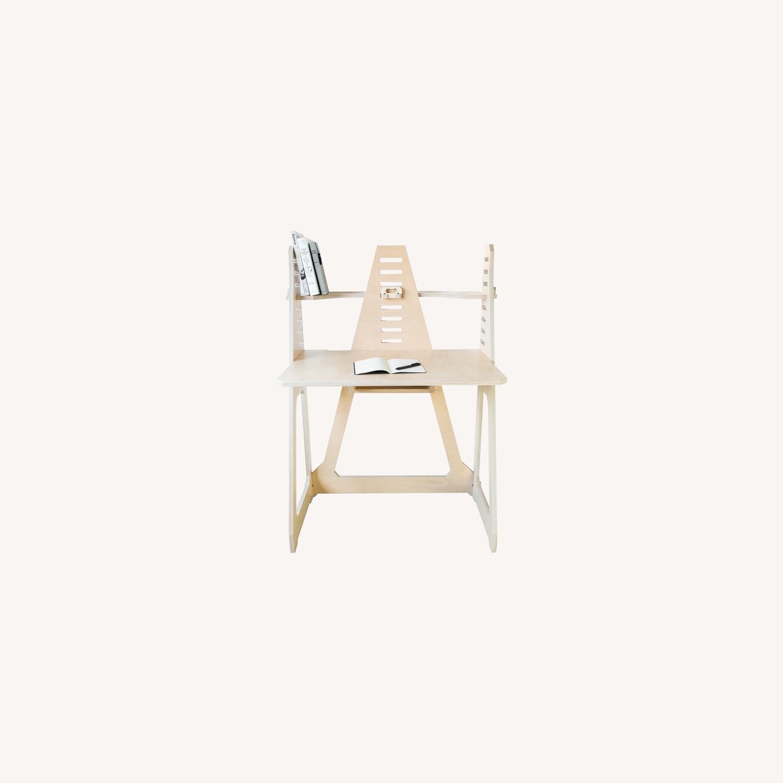 WFH Desk & Monitor Stand - Blonde - image-0
