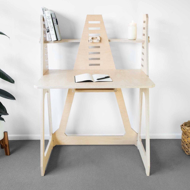 WFH Desk & Monitor Stand - Blonde - image-2