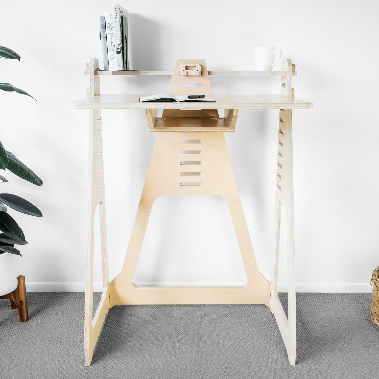 WFH Desk & Monitor Stand - Blonde - image-1