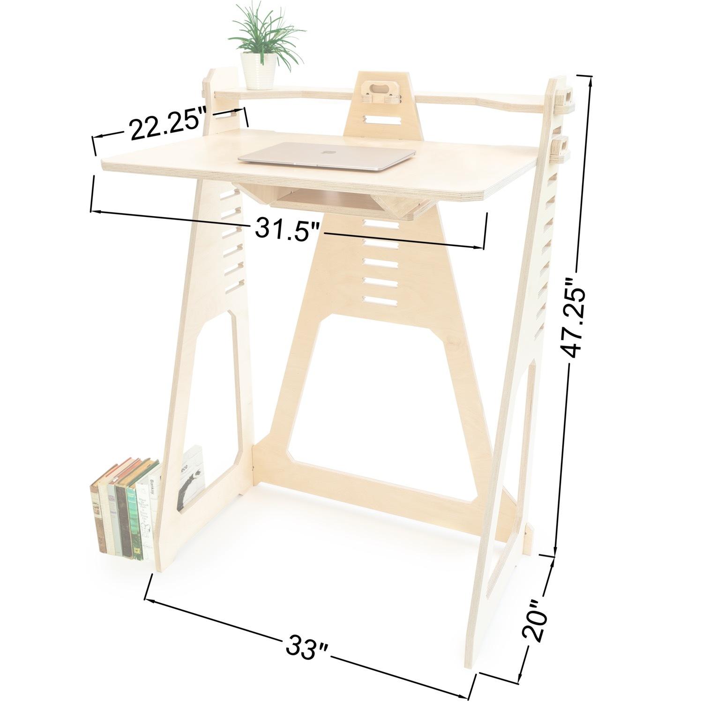 WFH Desk & Monitor Stand - Blonde - image-3