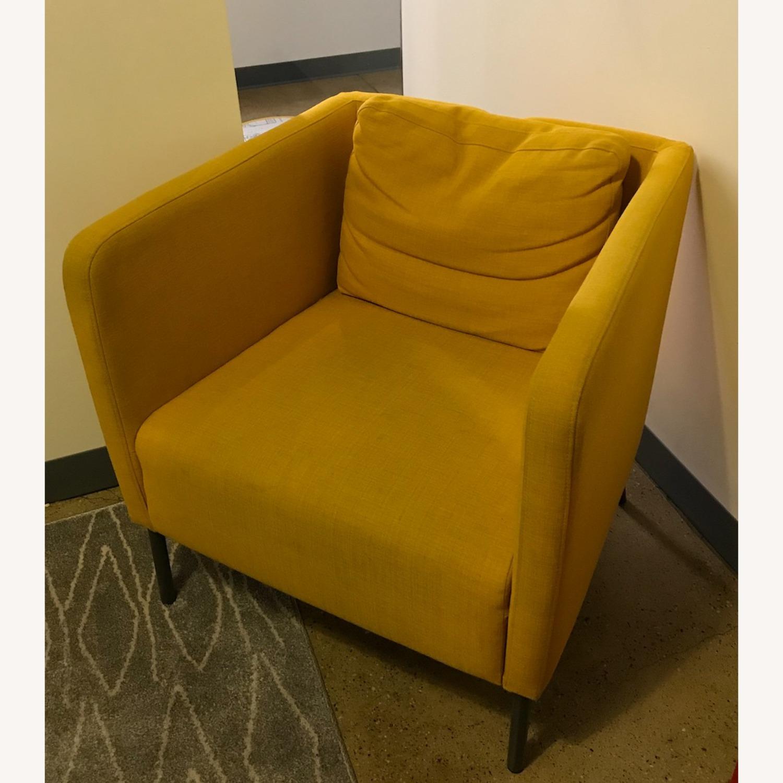 IKEA Cozy Yellow Armchair - image-1