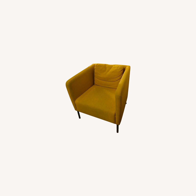 IKEA Cozy Yellow Armchair - image-0