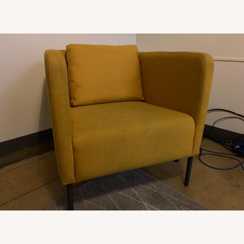 IKEA Cozy Yellow Armchair - image-2