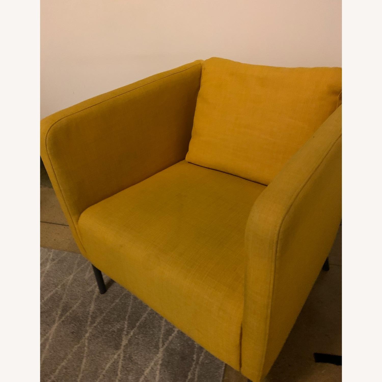IKEA Cozy Yellow Armchair - image-4