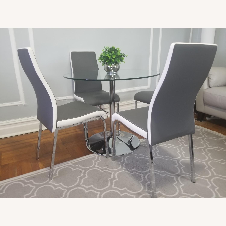 AllModern Salerno Gray 5 piece Glass Dining Set - image-3