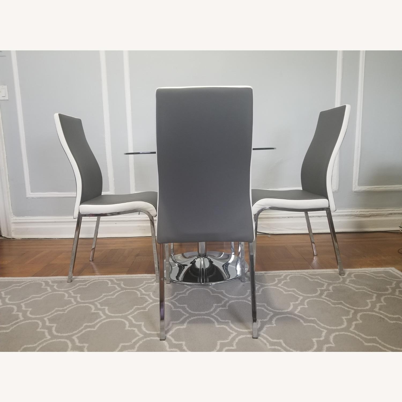 AllModern Salerno Gray 5 piece Glass Dining Set - image-2