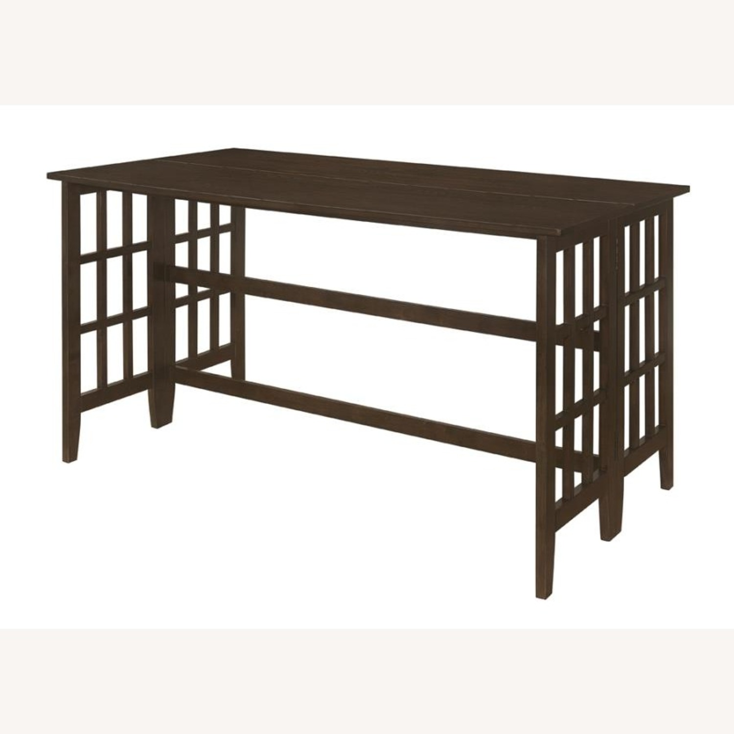 Counter Table In Brown W/ Table Top Drop Down - image-0