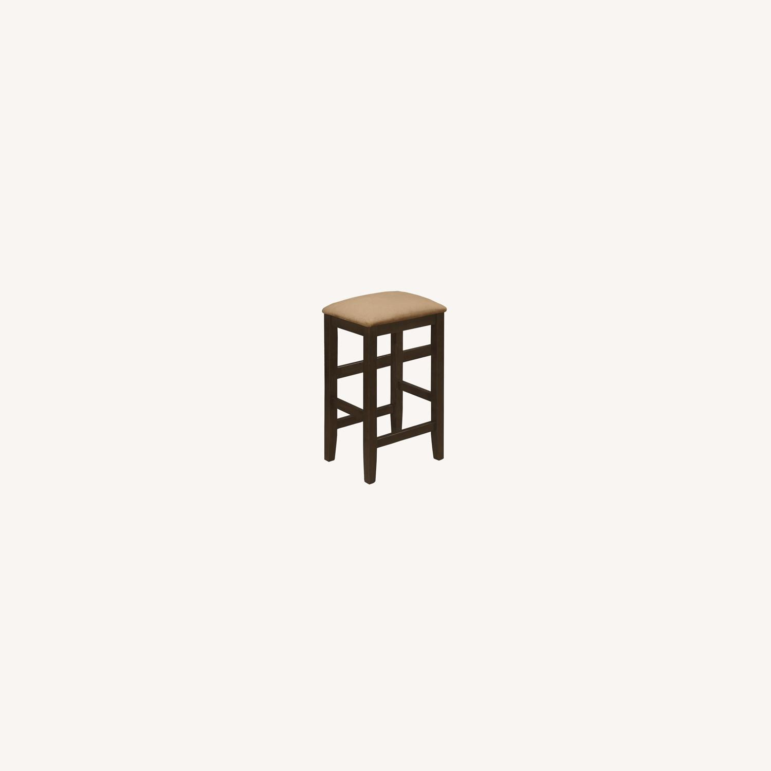 Counter Height Stool In Cappuccino Fiber Peat - image-3