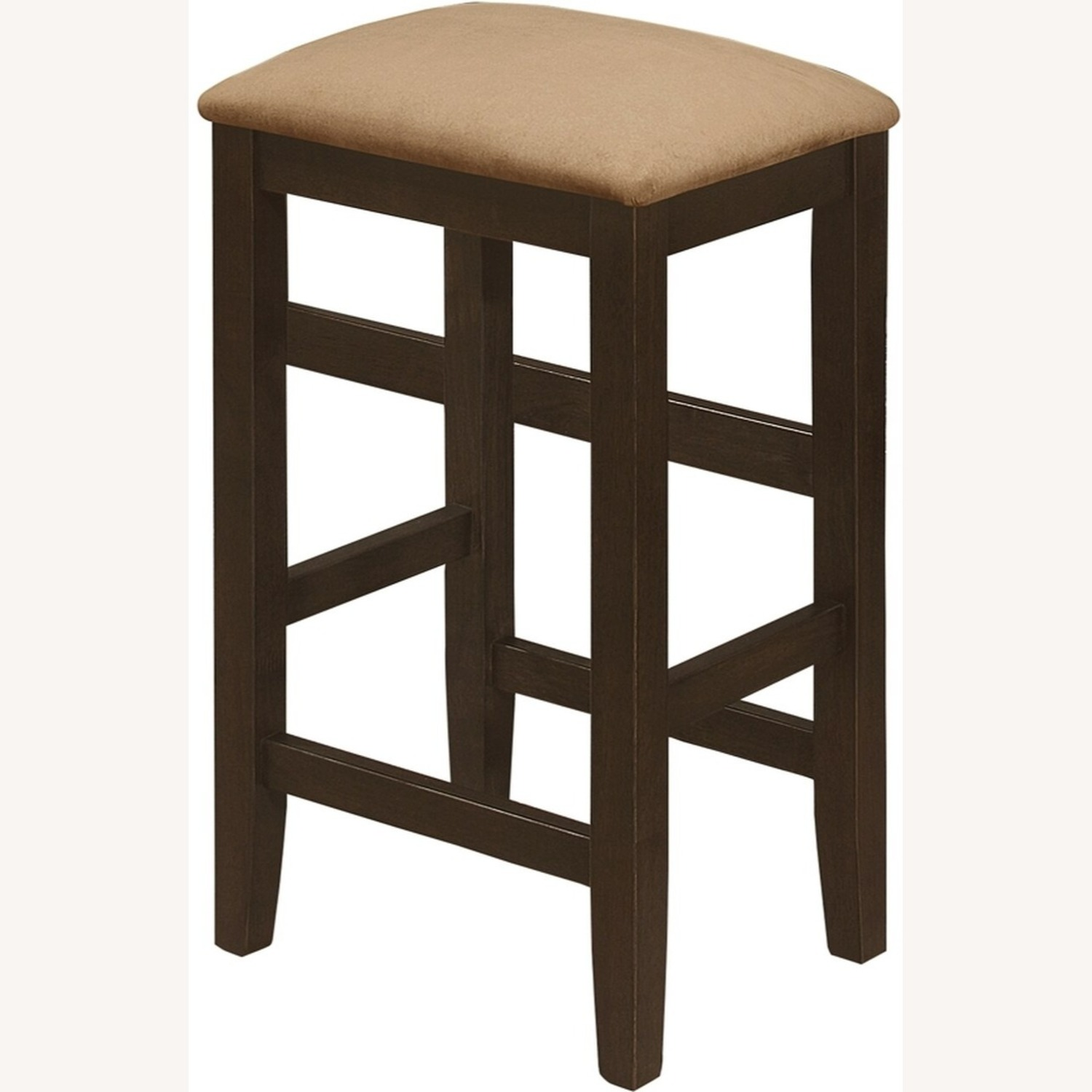 Counter Height Stool In Cappuccino Fiber Peat - image-1