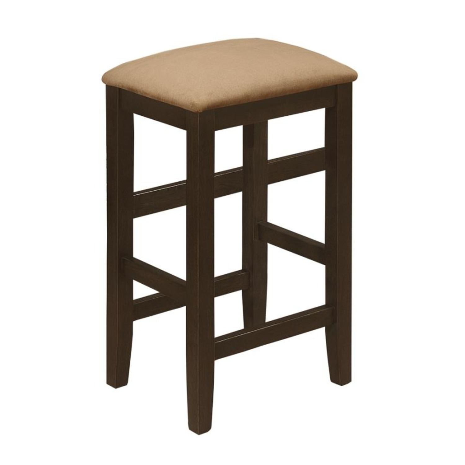 Counter Height Stool In Cappuccino Fiber Peat - image-0