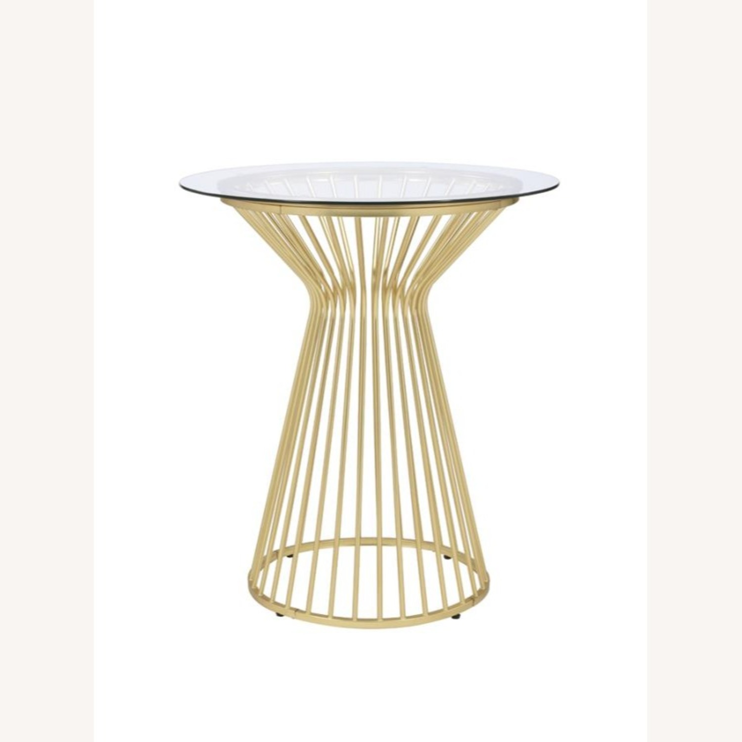 Bar Table W Round Wire Frame In Matte Brass - image-1