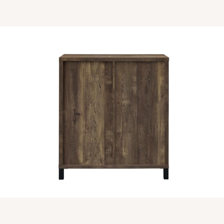 Bar Cabinet In Rustic Oak W/ Adjustable Shelves - image-3