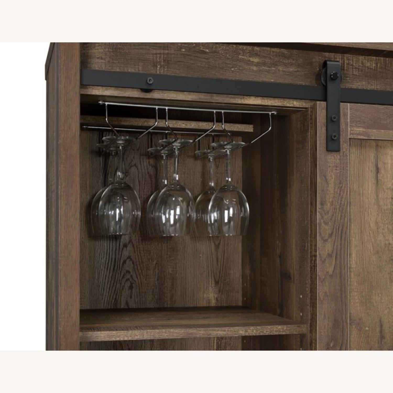 Bar Cabinet In Rustic Oak W/ Adjustable Shelves - image-5