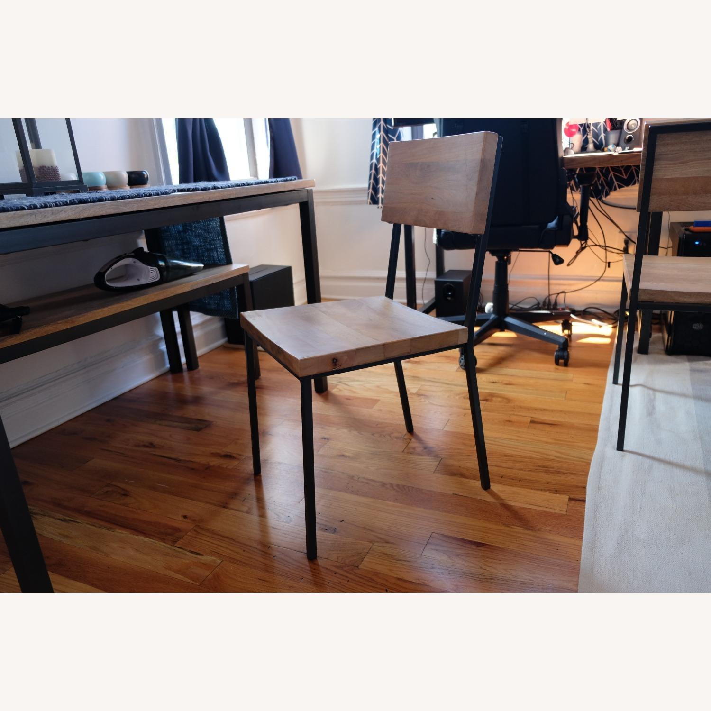 West Elm Mango Wood Box Frame Dining Room Set - image-9
