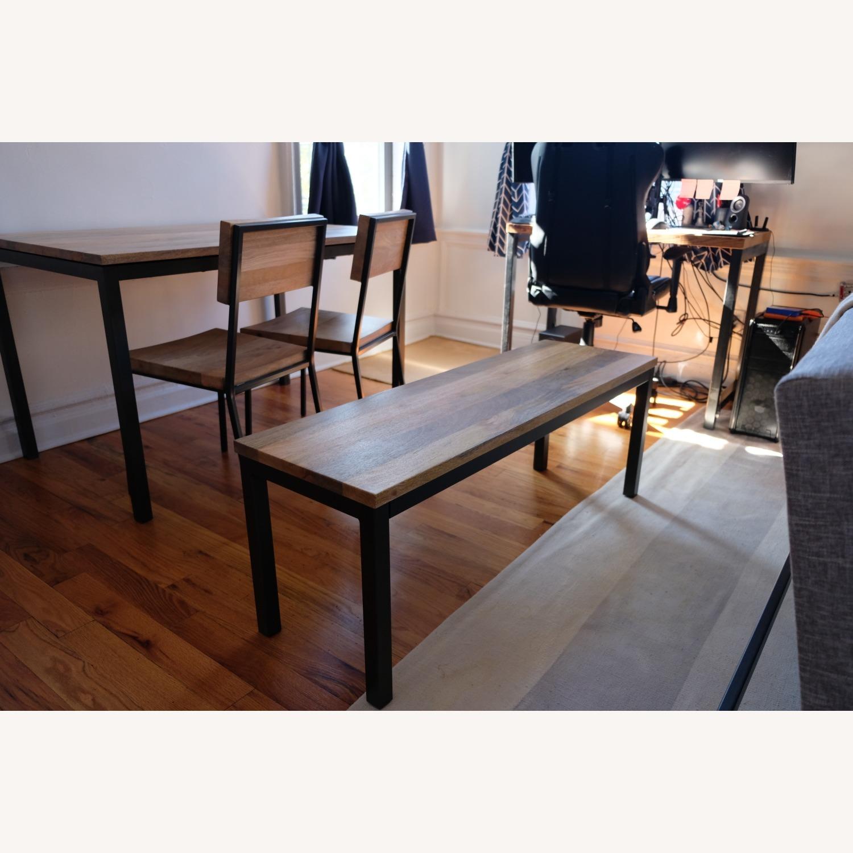 West Elm Mango Wood Box Frame Dining Room Set - image-7