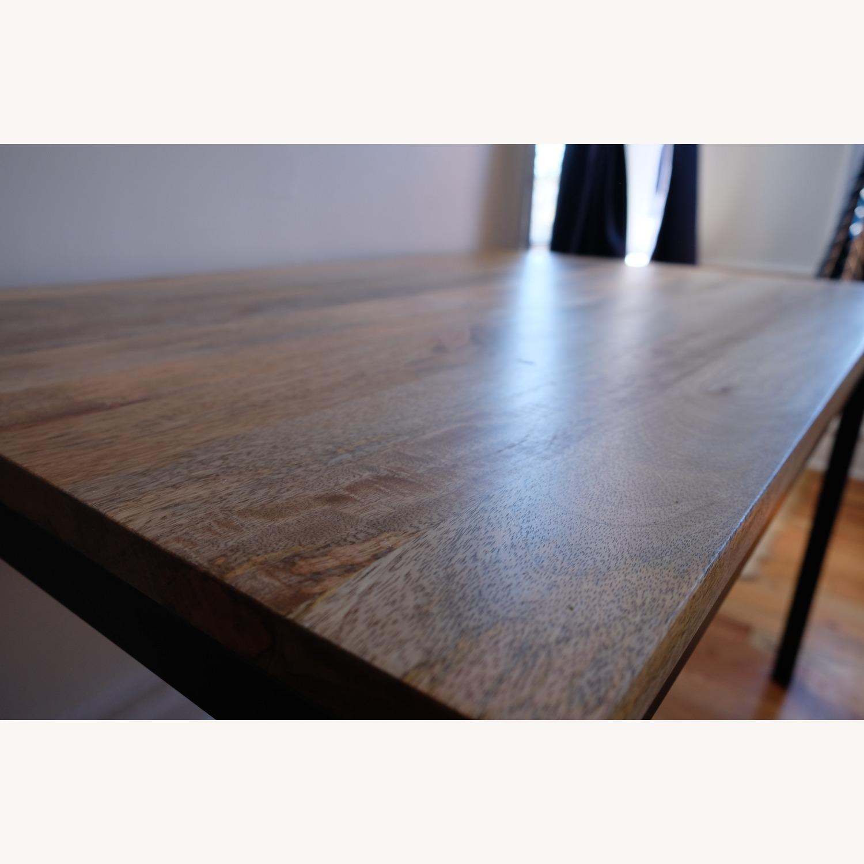West Elm Mango Wood Box Frame Dining Room Set - image-5
