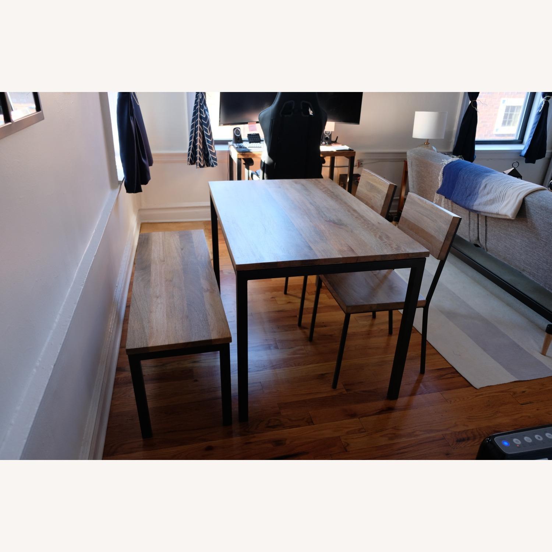 West Elm Mango Wood Box Frame Dining Room Set - image-3