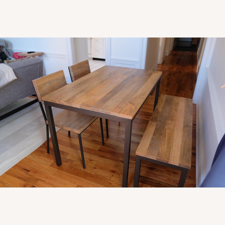West Elm Mango Wood Box Frame Dining Room Set - image-1