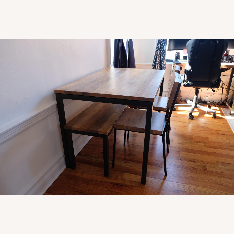 West Elm Mango Wood Box Frame Dining Room Set - image-10