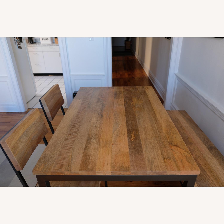 West Elm Mango Wood Box Frame Dining Room Set - image-6