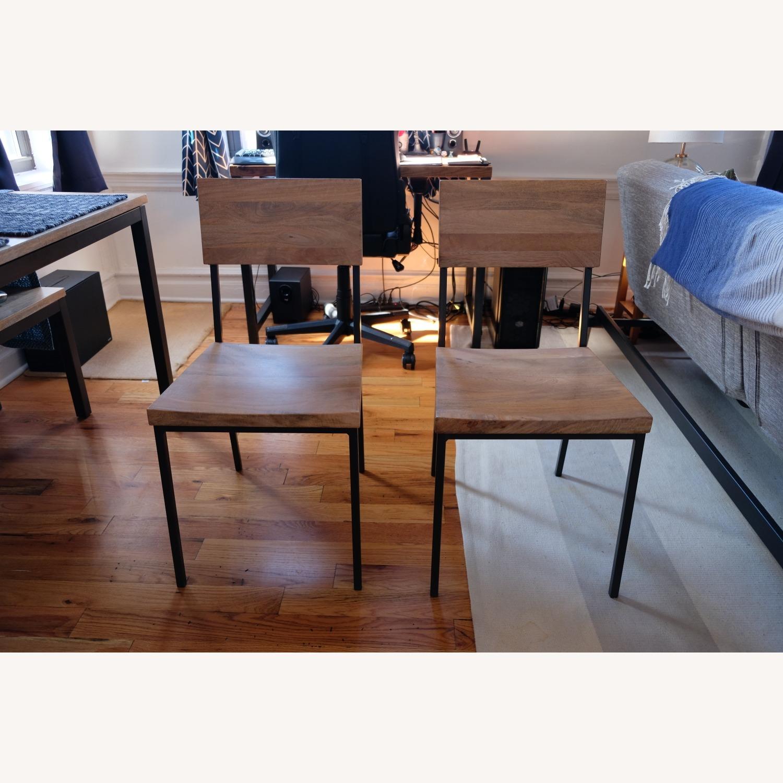West Elm Mango Wood Box Frame Dining Room Set - image-4