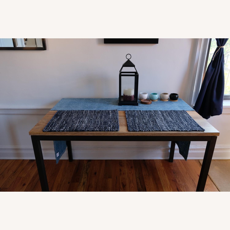West Elm Mango Wood Box Frame Dining Room Set - image-2