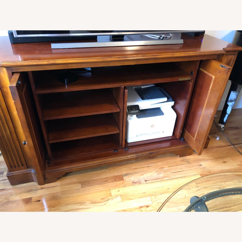 Ethan Allen Wood Media Cabinet - image-2