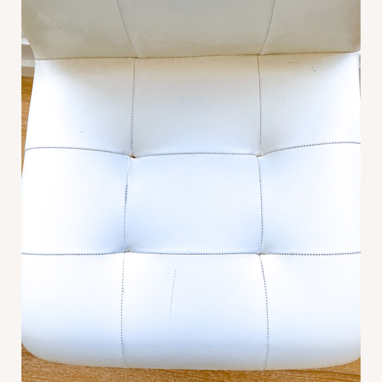 White Leather Desk Chair - image-5