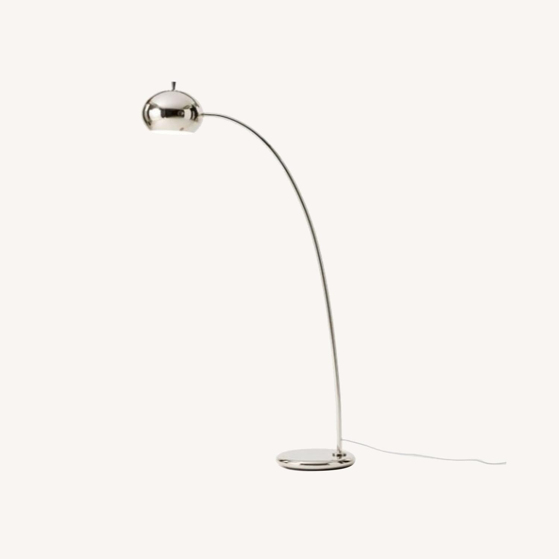 West Elm Nickel Petite Arc Metal Floor Lamp - image-0