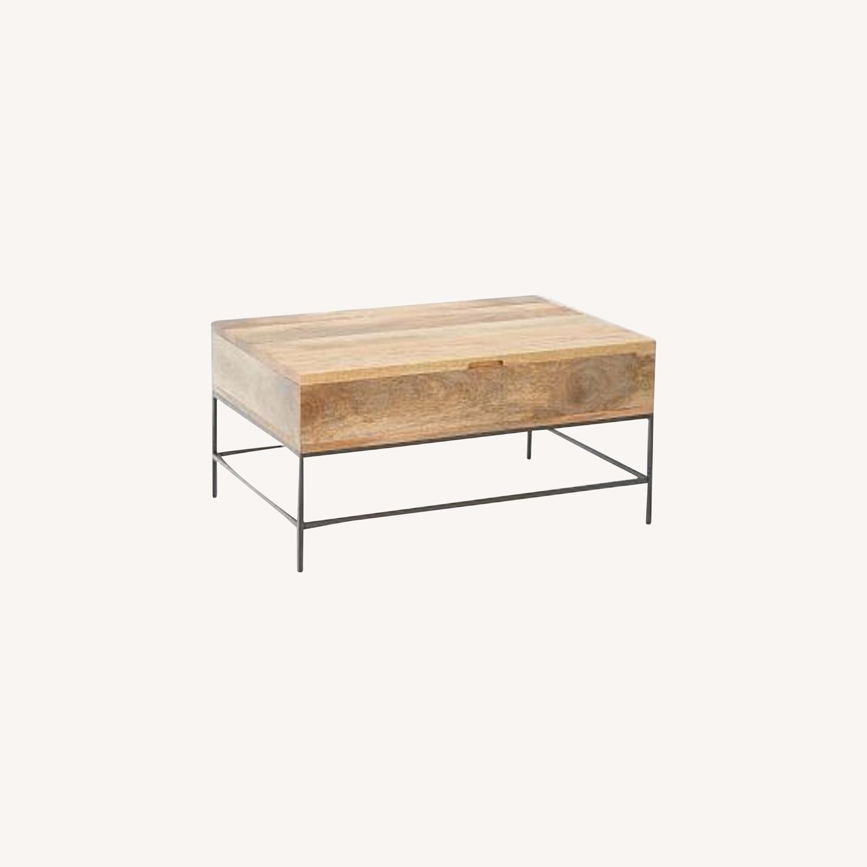 West Elm Industrial Storage Pop-Up Coffee Table - image-0