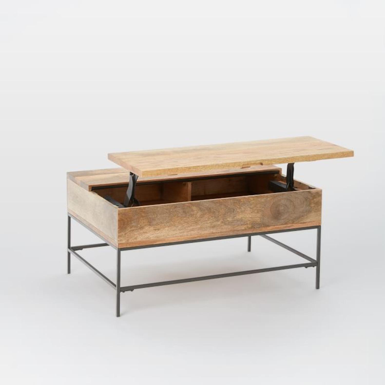 West Elm Industrial Storage Pop-Up Coffee Table - image-2