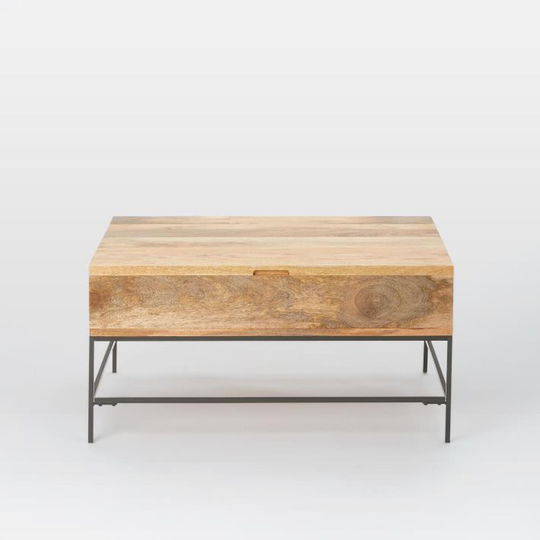 West Elm Industrial Storage Pop-Up Coffee Table - image-3