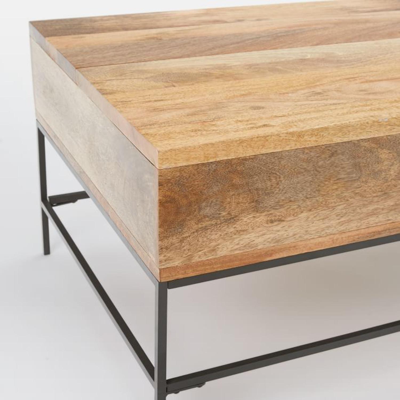 West Elm Industrial Storage Pop-Up Coffee Table - image-4