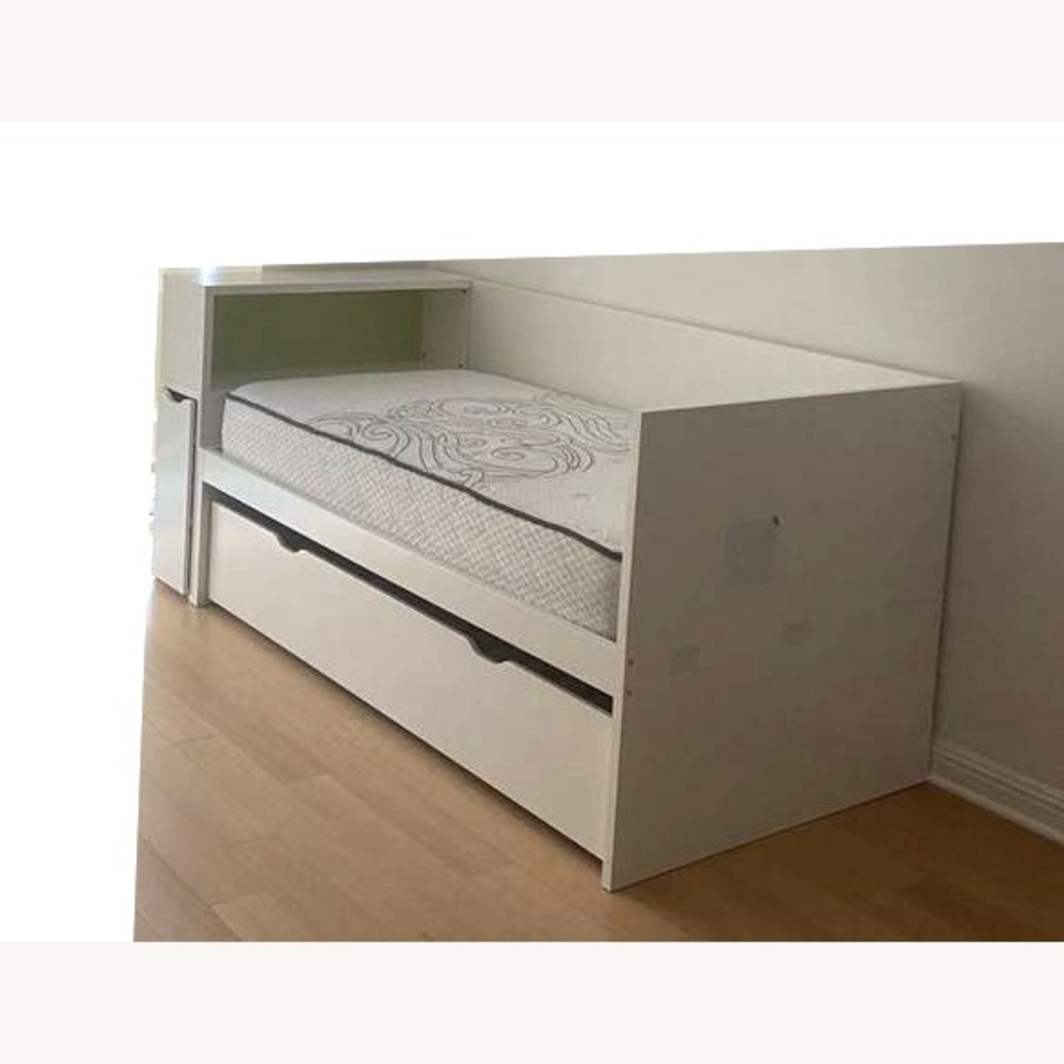 IKEA Twin Bed frame w/pull-out Bed + Storage - image-3